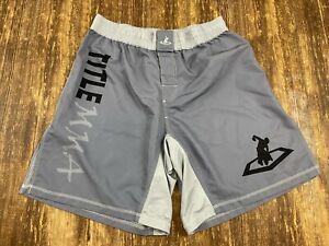 TITLE MMA Men's Gray/Black Fight Shorts - XL - NWOT - New