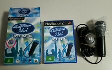 AUSTRALIAN IDOL S.I.N.G GAME & LOGITECH USB MICROPHONE - PLAYSTATION 2 PS2