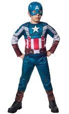Boy DELUXE CAPTAIN AMERICA Retro Costume Child Medium 8 10 Marvel Winter Soldier