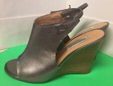 Kelsi Dagger Women's Wedge Heel Kava Size 8 Metallic Leather Upper