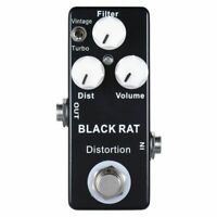 Mosky Black RAT Distortion Mini Guitar Effect Pedal T6I6