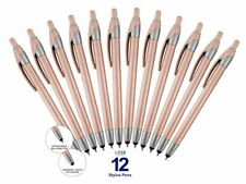 2 in 1 Stylus for touchscreen Devices with Ballpoint Pen, 12 Pack Pink