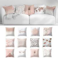 "18"" Rose Gold Pillow Case Polyester Geometric Cushions Cover Car Sofa Home Decor"