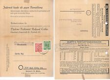 Germany-1947 stamp auction(4 pages) & 1949 compilation of some sort