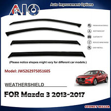 AD WEATHERSHIELD WINDOW VISOR WEATHER SHIELD SHIELDS FOR MAZDA 3 2013-2017