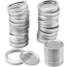 12 Silver Mason Jar Canning Lids Rust Resistant Replacement  Screw Bands RingsSP