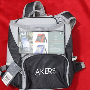 """Picnic Time PTX Backpack Cooler Color Grey/Black Size 11""""L x 7""""W x 13.5""""H ONIVA"""