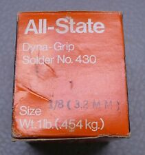 1lb Roll All State Dyna Grip 430 Silver Bearing Solder 18