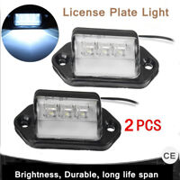 2X LED REAR LICENSE NUMBER PLATE LIGHT LAMP TRUCK BOAT CARAVAN TRAILER 12V 24V