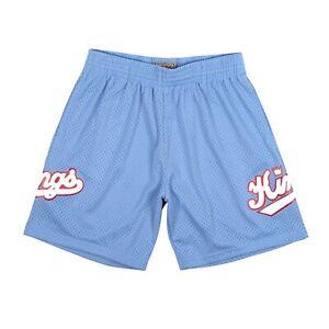 Kansas City Kings 1985 NBA Mitchell & Ness Authentic Swingman Shorts- Light Blue