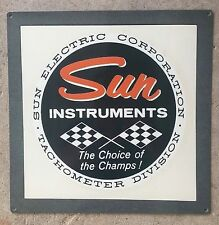 Sun Electric Instruments Vintage Tach Speedometer Hot Rod Drag Racing Metal Sign