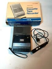 More details for realistic ctr-82 14-1049 cassette tape recorder voice actuated vintage