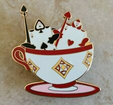 Pin Trading Disney Pins Alice in Wonderland Card Guards Rinding in Teacup