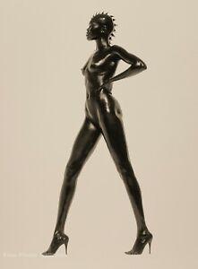 1998 HERB RITTS Black Female Nude Woman ALEK WEK Fashion Surreal Photo Art 11x14