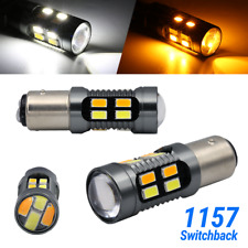 Syneticusa 1157 LED White/Amber DRL Switchback Turn Signal Parking Light Bulbs