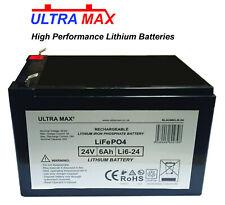 24V 6AH (Conforme 12AH) LiFePO4 Lithium Batterie Mobilité Medicare Mercure Rio3