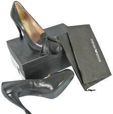 NEW $745 Giorgio Armani Emporio Shoes (Heels)!  US 10 e 40  *Black Snakeskin*