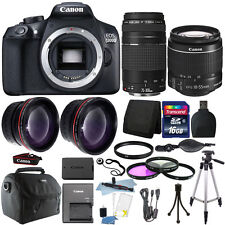 Canon EOS 1300D/T6 18MP DSLR Camera + 18-55mm + 75-300mm Lens + 16GB Accessories