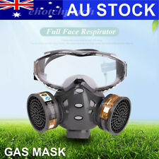 Full Face Gas Mask+Goggles Facepiece Respirator Painting Spraying Chemical AU