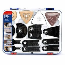 WORKPRO 24PC Oscillating Accessory Power Saw Blade Kit Multitool Fit Major Brand