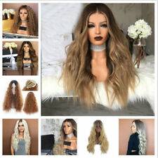 Women Long Hair Full Wig Natural Curly Wavy Synthetic As Real Hair Cosplay Wigs