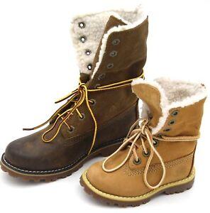 TIMBERLAND JUNIOR GIRL BOY BOOTS BOOTIES WINTER WATERPROOF CODE 6 IN WP SHERLING