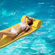 3-Layer Tear-Resistant Foam Floating Pad Island Water Sports Relaxing Yellow