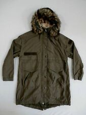 River Island Women's Faux Fur Trim Hooded Parka Khaki/Green Size 8 NWT