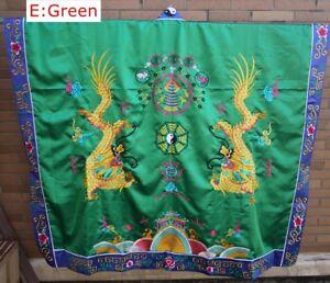 New Handmade Silks satin Taoist Robe Dragon Robe Religious ceremonies Suit #5080