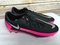 Nike Mens Size 8.5 Phantom GT Elite FG/MG Black Pink Soccer Cleats CK8460-006
