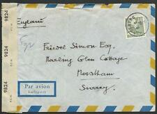 SWEDEN 1945 censor airmail cover to UK.....................................27456