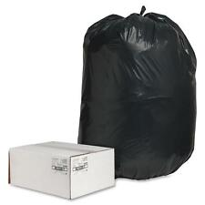 """Nature Saver Trash Can Liners Rcycld 55-60 Gal 2.0mil 38""""x58"""" 100/Bx Bk 00995"""