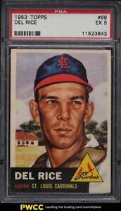 1953 Topps Del Rice #68 PSA 5 EX