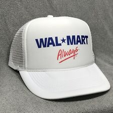 8fa32548ff775 Wal-Mart Always Employee Trucker Hat Vintage Retro White Cap