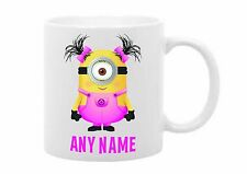 Despicable Me Girl Minion Personalised Text Any Name Colours Birthday Gift Mug