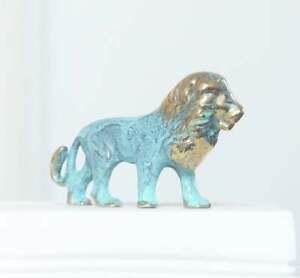 Lion Statue, Bronze Sculpture, Lion Figurine, Animal Figure, 7cm-2.7in