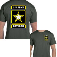 U.S. ARMY Retired Military Forces Infantry Tee T Shirt Gift New