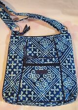 VERA BRADLEY Hipster Cross Body Crossbody Bag Purse CUBAN TILES Blue