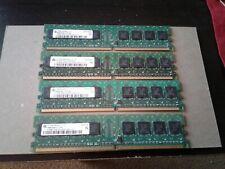 2GB SET - INFINEON 512MB X 4 PC2-3200U DDR2 DESKTOP MEMORY - 4 PIECES @ 512MB
