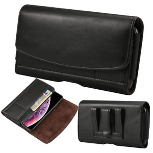 Mobile Phone PU Leather Waist Hang Case Cover Belt Holster Clip Pouch Sleeve Men
