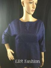 ZARA BLUE SHIMMERY TOP WITH 3/4 SLEEVES SIZE SMALL B16 REF: 5580 150