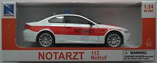 NewRay - BMW M3 Coupe weiß/rot NOTARZT 1:24 Neu/OVP Modellauto