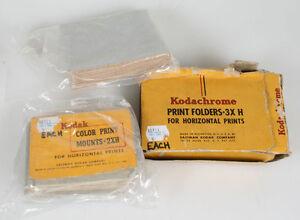 KODAK COLOR PRINT FOLDERS 2XH, 3XH,   ?)(3 PACKS)