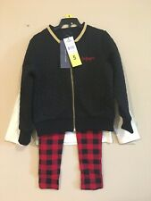NWT Girls size 4T 5 Tommy Hilfiger Bomber Jacket Leggings...