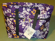 Hawaii Spirit Hawaiian Print Purple EcoBag Shopping Handbag Tote Travel H-05