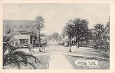 1943 Early Cars Stores Main ? St. Inverness FL post card Coca Cola sign