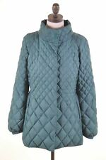 LIU JO Womens Quilted Jacket IT 46 Large Green Polyester  GE15