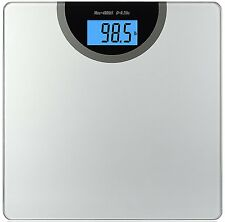 Digital Bathroom Scale Body Weight Personal Fat Health Fitness LCD Glass 400LB