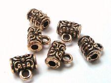 20 x 7mm Antique Golden Barrel Bails Jewellery Beads Craft  J2