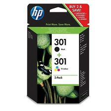 2 CARTUCHOS (NEGRO + COLOR) TINTA HP 301 ORIGINAL IMPRESORA 1000 1050 2050 3000